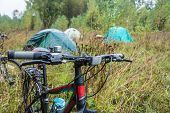 picture of chassis  - Camp cyclists on a rainy day - JPG