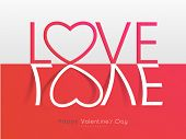 picture of corazon  - Happy Valentines Day celebration greeting card with stylish text Love - JPG