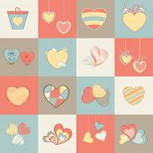 image of corazon  - Collection of different hearts for Valentine - JPG