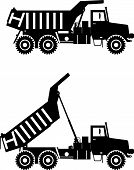 stock photo of machinery  - Detailed illustration of mining trucks - JPG