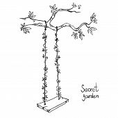 image of swing  - tree with a swing - JPG