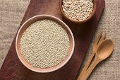 picture of quinoa  - Overhead shot of raw white quinoa  - JPG