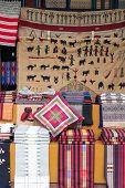 picture of yangon  - Traditional burmese fabrics on a market stall in Yangon Myanmar - JPG