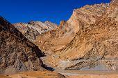 image of raft  - Crossing the Zanskar river during trek to Markha valley rafting mountain river Himalaya India Ladakh - JPG