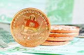 stock photo of currency  - bitcoins  - JPG