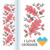 picture of stitches  - Ornament national Ukrainian cross - JPG