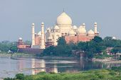 foto of mausoleum  - View from Agra Fort on the Taj Mahal the  - JPG
