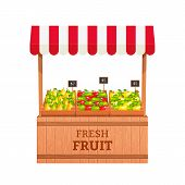 stock photo of fruits  - Stand for selling fruit - JPG