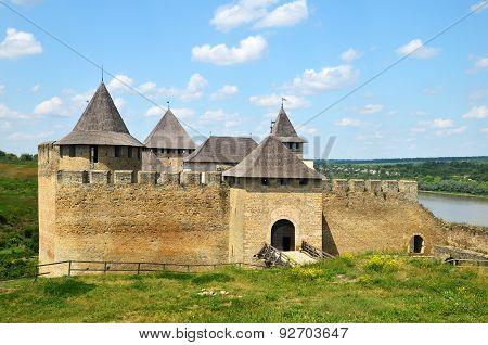 Khotyn Fortress XIV Centrury. Medieval Architecture