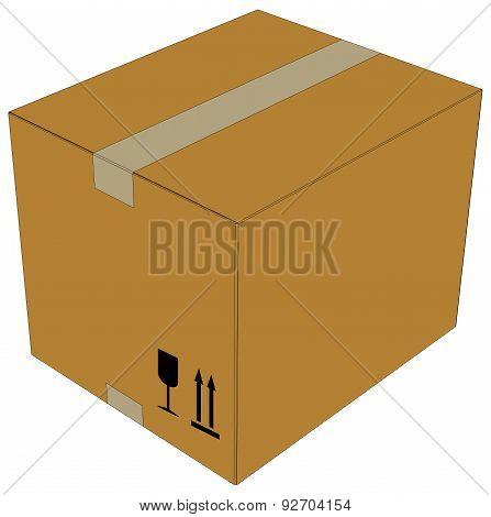 Carton box. Vector illustration