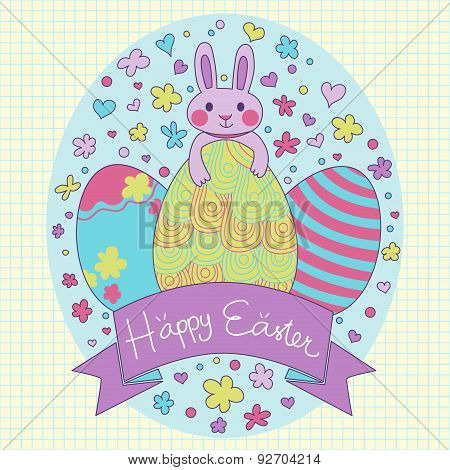 Happy Easter Theme Card