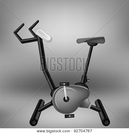 Exercise Grey Bike for