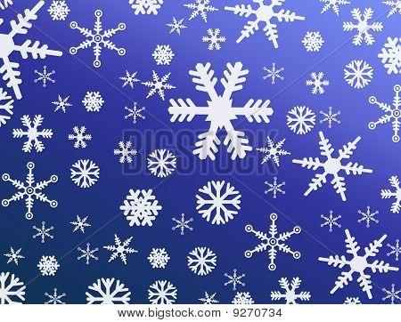 Fondo transparente de copo de nieve