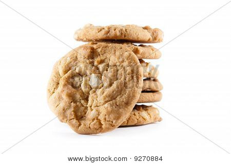 Stack Of Madamia Nut Cookies