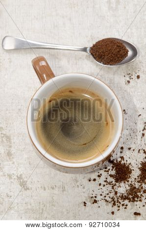 Instant Coffee In A Cup