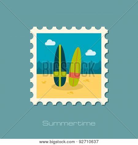 Surfboard Flat Stamp