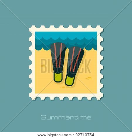 Flippers Flat Stamp