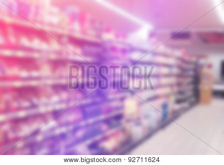 Supermarket Aisles Out Of Focus