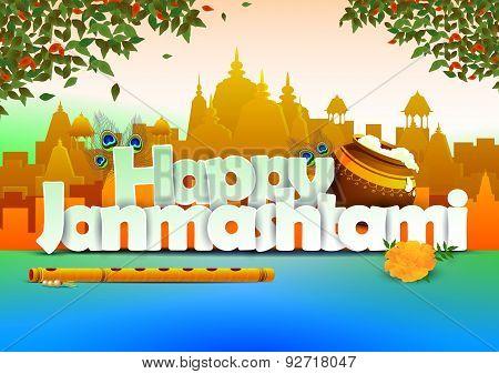 Happy Janmashtami wallpaper background