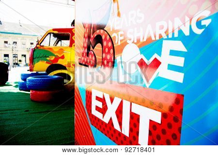Tickets Stand Of Exit Festival 2015 In City Center Of Novi Sad