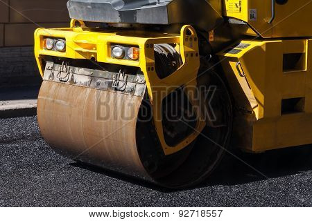 Road Is Under Construction, Asphalting In Progress