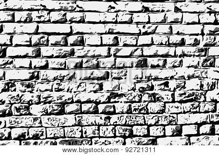 Wall masonry art black & white  style