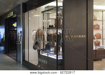 Burberry Store At Fiumicino Airport In Rome