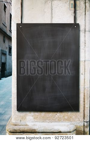 Chalk board mockup for advertising