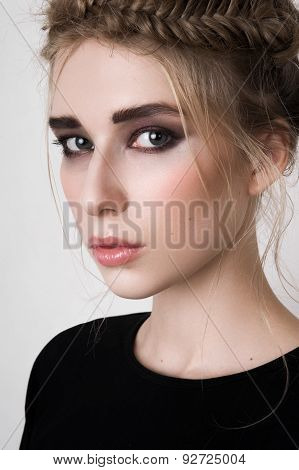 Beautiful Female Model With Smoky Eyes
