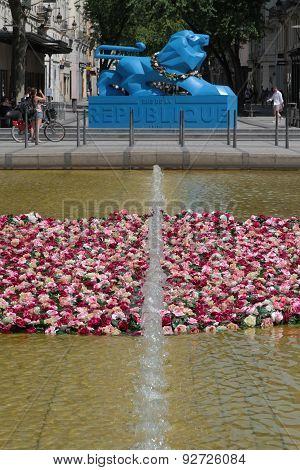 Place de la Republique during Festival of Roses