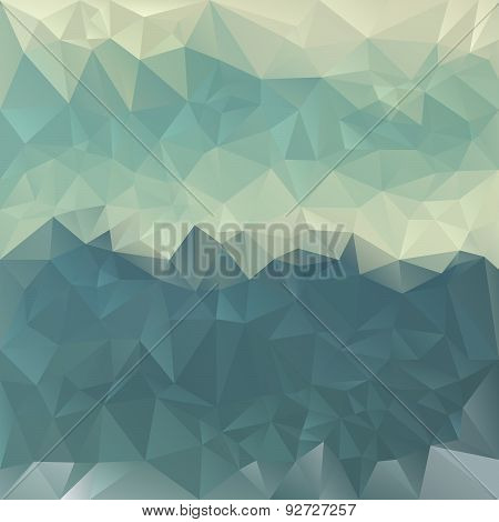 Vector Polygonal Background - Triangular Design In Turquoise Bl