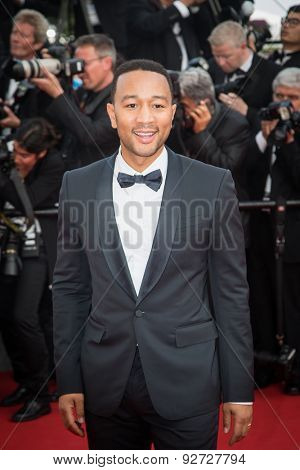 John Legend attends the opening ceremony and premiere of La Tete Haute ( Standing Tall ) during the 68th annual Cannes Film Festival on May 13, 2015 in Cannes, France.