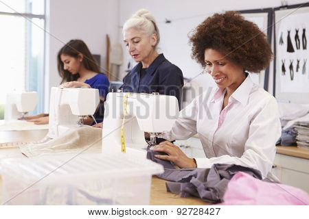Mature Students Studying Fashion And Design