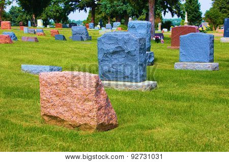 Colorful Headstones