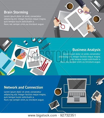 Business infographic activities template of businessman and businesspeople brainstorming analyzing m