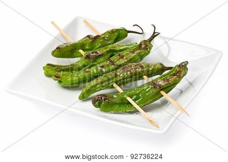 Grilled Shishito Peppers