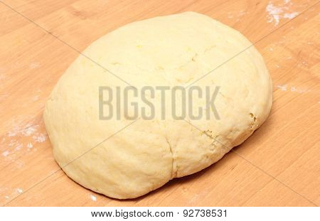Yeast Cake Lying On Wooden Table