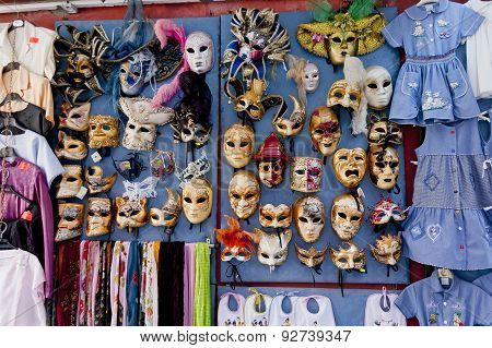 Different models of mask in Burano