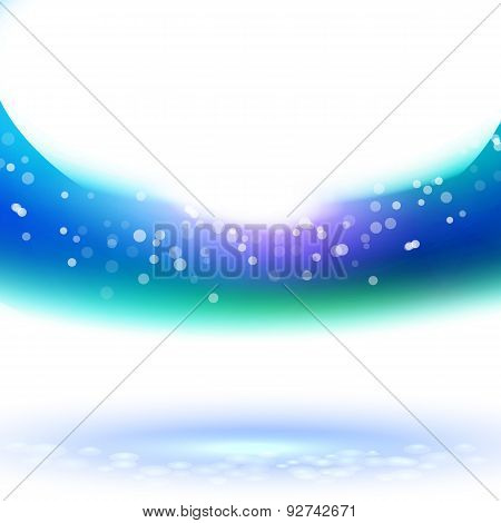 Winter Sky Way, Vector Illustration