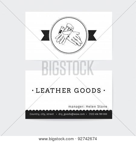 Business card design  vector template of haberdashery, womens accessories