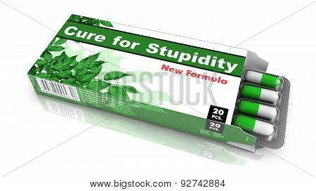 Cure for Stupidity - Blister Pack Tablets.
