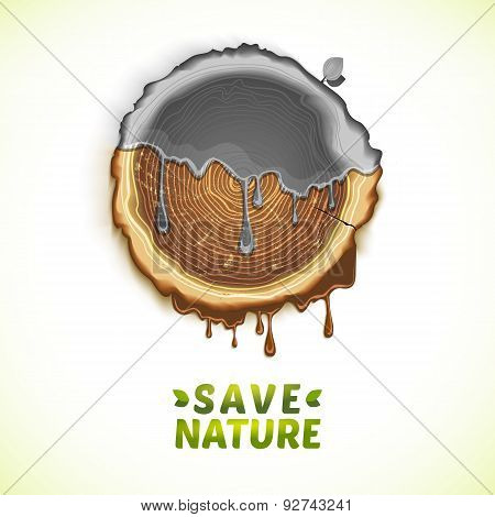 Vector Drawing Save Nature Concept