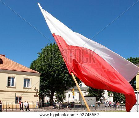 Polish flag.