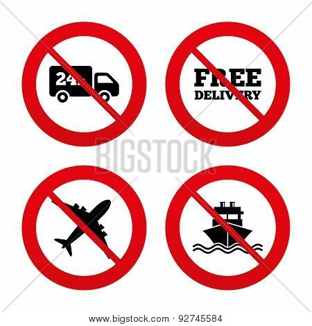 Cargo truck, shipping. Free delivery service