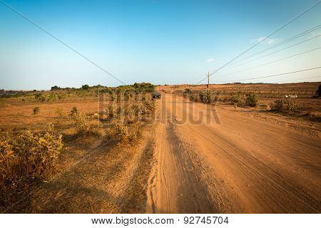 Dirt track in Mui Ne near White Sand Dunes, Vietnam