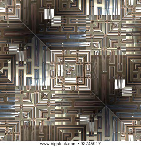 Metal Lattice Seamless Generated Texture