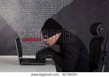 Hacker Stealing Data