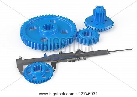 Vernier Caliper With Plastic Gearwheels