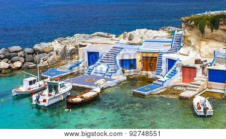 traditional Greece series- fishing boats on Milos island
