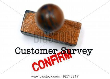 Customer Survey Confirm